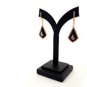 Topaz & Onyx Drop Earrings