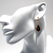 Topaz & Onyx Drop Earrings