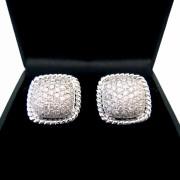 18ct Pave Set Diamond Earrings