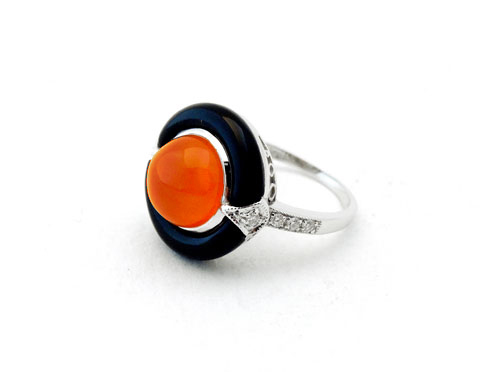 Carnelian & Onyx Ring