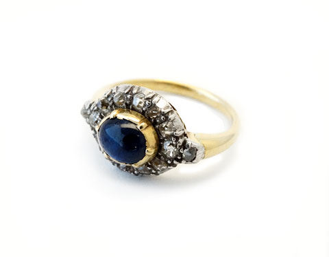 Vintage Cabochon Sapphire Ring