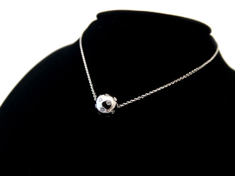 Diamond Set Ball Pendant