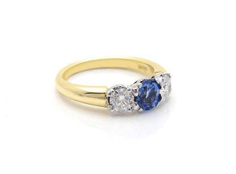 Ceylon Sapphire and Diamond Ring