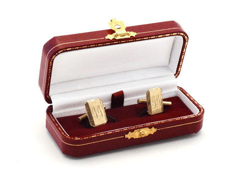 Yellow Gold Rectangle Cufflinks