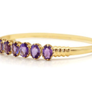 9ct Yellow Gold Amethyst Bangle