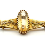Yellow Stone Brooch