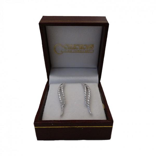 18ct diamond set ear cuffs