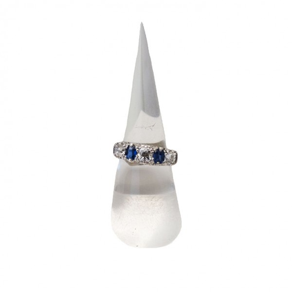 18ct Sapphire and Diamond Ring