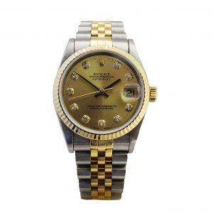 Rolex two tone diamond set Datejust