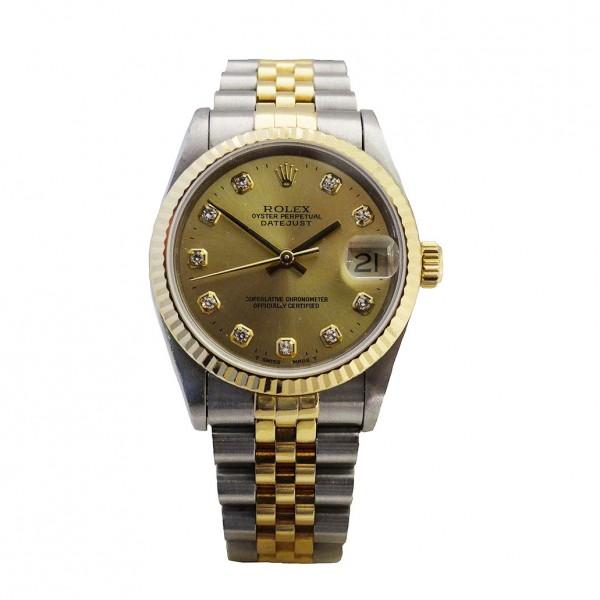 Rolex two tone diamond set Datejust