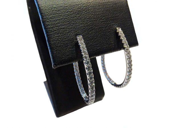 18ct Diamond Hoop Earring