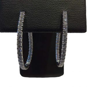 18ct Diamond Hoop Earring