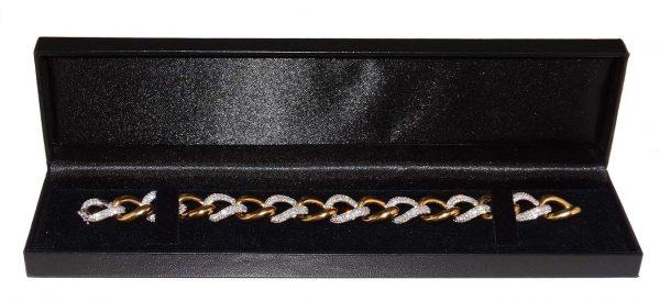 Diamond Set Curb Link Bracelet