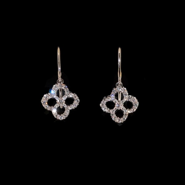Open Clover Diamond Earrings