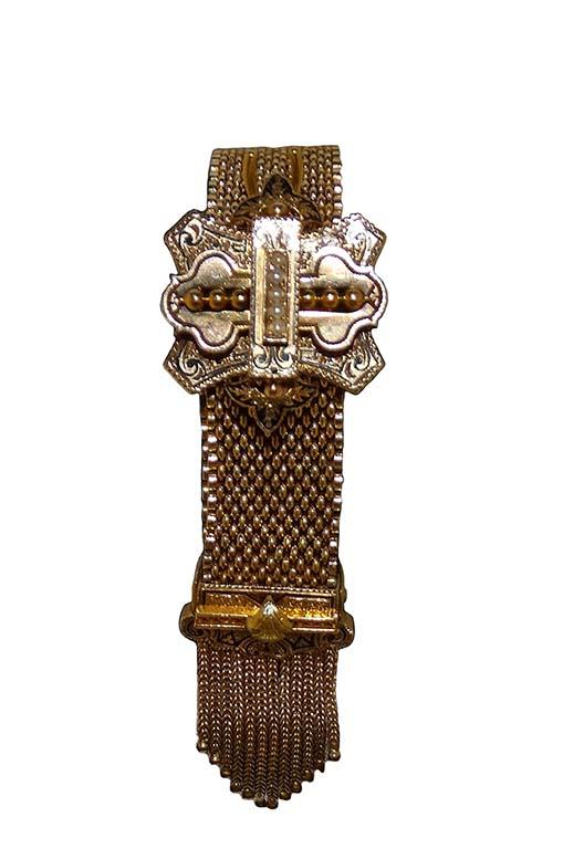 Victorian Belted Tassel Bracelet