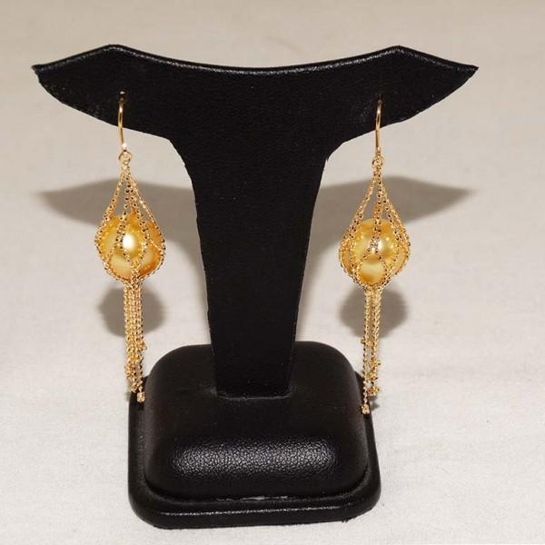 Golden Pearl Earrings