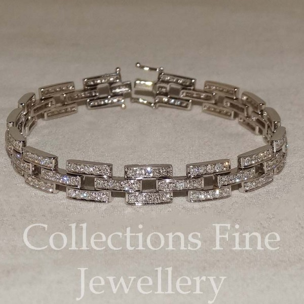 Grain Set Diamond Bracelet